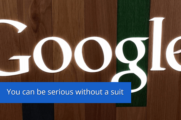You can be serious without a suit